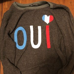 Wildfox Oui French Jumper Sweatshirt EUC